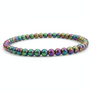 Stretchy 4mm Beads Bracelets Natural Gemstone  Crystal Healing Reiki Amulet