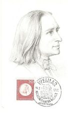 Maximum Card Maximumkarte Germany (125)Postal Card Franz Liszt  Music