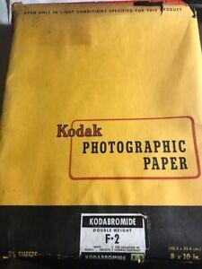KODAK Photographic Kodabromide White Paper Vintage F -2 8 X 10 in Photo RARE