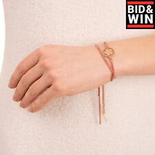RRP €2290 CAROLINA BUCCI 18K Gold & Silk Bracelet Diamonds Embellished Pendant
