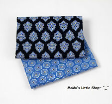 Beautiful Vera Bradley 100% Cotton Fabric (Calypso) —— 2 Matching Fat Quarters
