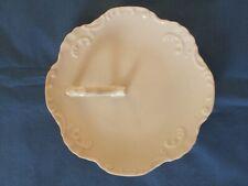 "White Porcelain China Painting Blank 6 1/2"" Handled Tray"