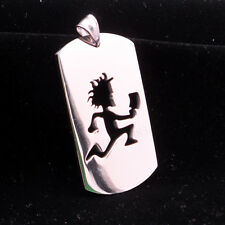 "NEW Hatchetman ICP music dog tag charm twiztid S.steel pendant 30""  necklace"