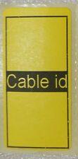 Identificador de cable de 50 etiquetas de identificación de Auto Adhesivo Pegajoso ordenado Pegatinas Etiquetas Amarillo