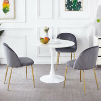 2pcs Metal Legs stable Chairs Set Velvet Cushion Chairs Home Coffee Furniture