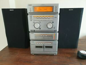 SONY MHC-NX1 HiFi MULTI Changer CD, twin tape with speakers and remote