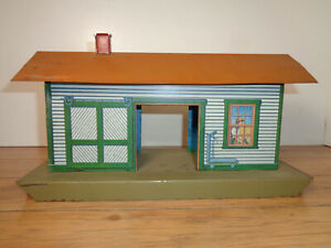 IVES O & STANDARD GAUGE # 115 TIN & LITHOGRAPHED FREIGHT STATION