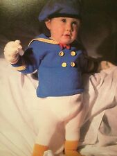 Donald Duck Toddlers Sailor Suit And Flippers Knitting Pattern