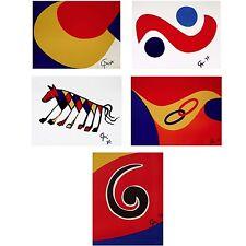 Flying Colors Suite, Five 1974 Limited Edition Lithographs, Alexander Calder