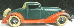 Tootsietoy Graham Series Car #514 Red/Green/Tan 5 Wheel Convertible Coupe