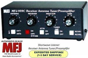 MFJ-959C - Antenna Tuner, Shortwave Listener, With Preamp, 1.6 to 30 MHz