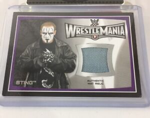 Sting Wrestlemania 31 Wwe Event Used Relic Insert 2015 Topps