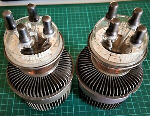 Philips QBL5/3500 RF Power Tetrode tubes, NOS. Sold as a pair / set of two.