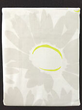 CYNTHIA ROWLEY SUNNY GREY WHITE LARGE FLOWER PRINT FABRIC SHOWER CURTAIN - NEW