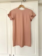 Asos Ribbed Bodycon Nude Stretch Dress Petite Size 12