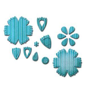 Spellbinders D-Lites Die ~ CRAFTY FLOWER 6 ~ S2-173 ~ Shapeabilities