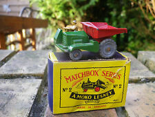 LESNEY MATCHBOX MOKO N° 2 DUMPER très bon état, quasi neuf en boite d'origine