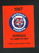 Detroit Tigers--1987 Pocket Schedule--WWTV/WWUP
