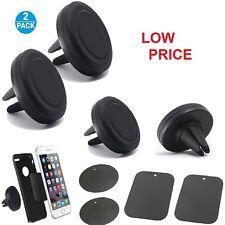 2Pk Car Mount Magnetic Air Vent Phone Holder Universal Compatible Smartphones