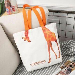 Woman Lady Girls Orange Giraffe Shopping Bag Shoulder Casual Tote Bag Handbag