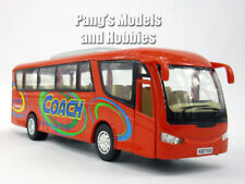 7 inch Coach Bus Scale Model by Kinsfun - RED