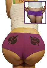 NWT Queen of Spades QOS Purple Booty Boy Shorts or Panties Size M/L LIMITED ED.