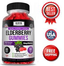 Elderberry Immune Support Gummies, Zinc, Vitamin C & E, Great Flavored Gummy