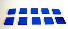 10 x LEGO® 3068 Fliese blau 2 x 2 wie auf dem Foto neu.