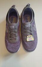 Skechers Grey Violet Purple Bungee Slip On Walking Trainers Shoes  Sz 3.5