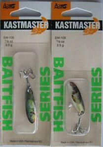 2 Pks. Acme Tackle KASTMASTER BAITFISH SERIES Fishing Lures - 1/8 Ounce