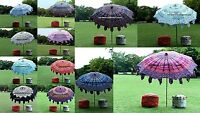 Indian Cotton Sun Shade Parasol Mandala Umbrellas Patio Outdoor Garden Umbrella