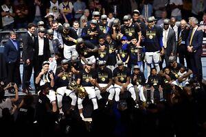 GOLDEN STATE WARRIORS WIN 2018 NBA CHAMPIONSHIP  8X10 PHOTO W/BORDERS