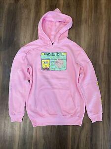 Spongebob Squarepants Hoodie Sweatshirt Jacket Pink Patrick Star Mens Size Small