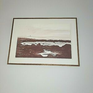 Peter Rudolph Original Lrg Painting 1991 - Oil on board - Cranberry Isle, Maine.