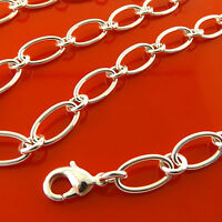 FSA866 GENUINE REAL 925 STERLING SILVER S/F SOLID LADIES CLASSIC NECKLACE CHAIN