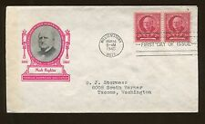 Famous American Educator Mark Hopkins 1940 Williamstown FDC US Stamp #870