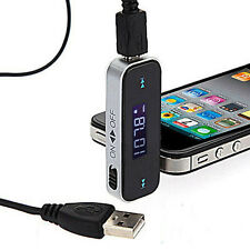 Trendy Wireless 3.5mm Car LCD Display FM Transmitter For iPhone 4 5 6 iPod Touch