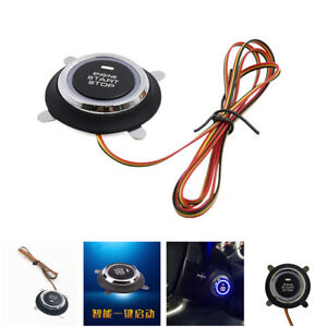 Car Engine Start Push Button Switch Ignition Engine Starter Touch Switch Black
