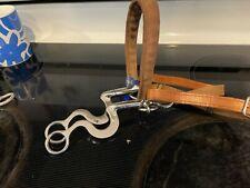 Western horse training Mylar level three bit - hackamore toklat nwt leather