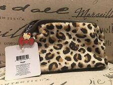 Sanrio  Hello Kitty Cosmetic Makeup Zipper Bag Pouch Cheetah Leopard Prints NEW