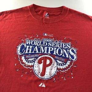 Vintage 2008 MLB Philadelphia Phillies World Series Champions Shirt XX Large NEW