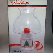 Himark Christmas Tree Hurricane Candle Tea light Holder Ceramic Base