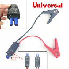 12V Car Emergency Jump Starter Lead Cable Battery Alligator Clamp Clip With LED