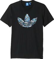 Adidas Ruban Trefoil Men's T-Shirt Graphic Tee Black Cotton Casual Summer Top