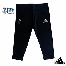 ADIDAS TEAM GB RIO OLYMPICS 2016 ELITE ATHLETE NAVY BLUE 3/4 LEGGINGS Size 18
