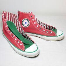 VTG Mens Chuck Taylor All Star Converse High Top Christmas Shoes Bells Sz 10 Red
