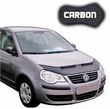 Hood Bra VW Polo 4 9N3 CARBON Car Bonnet Front End Mask Cover Stone Protection