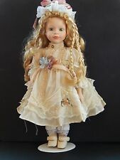 Doll by Seymour Mann Connoisseur Collection Signed - 18 in. tall w/stand