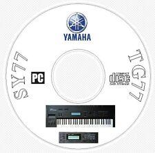 Yamaha SY-77 TG-77 Sounds Patches Manual MIDI Software & Editors CD - SY77 TG77