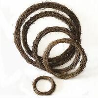 Artificial Vine Christmas Vine Ring Wreath Rattan Wicker Garland DIY Craft New